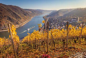 Blick auf Oberwesel und das Mittelrheintal van Christian Müringer