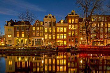 Historische Häuser am Kanal in Amsterdam Niederlande von Nisangha Masselink