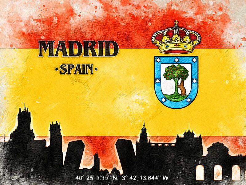 Madrid van Printed Artings