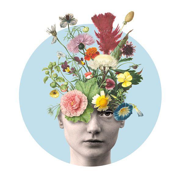 Zelfportret met bloemen (Daisy) van toon joosen