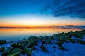 winterzonsondergang Zurich Friesland van Jan Peter Nagel
