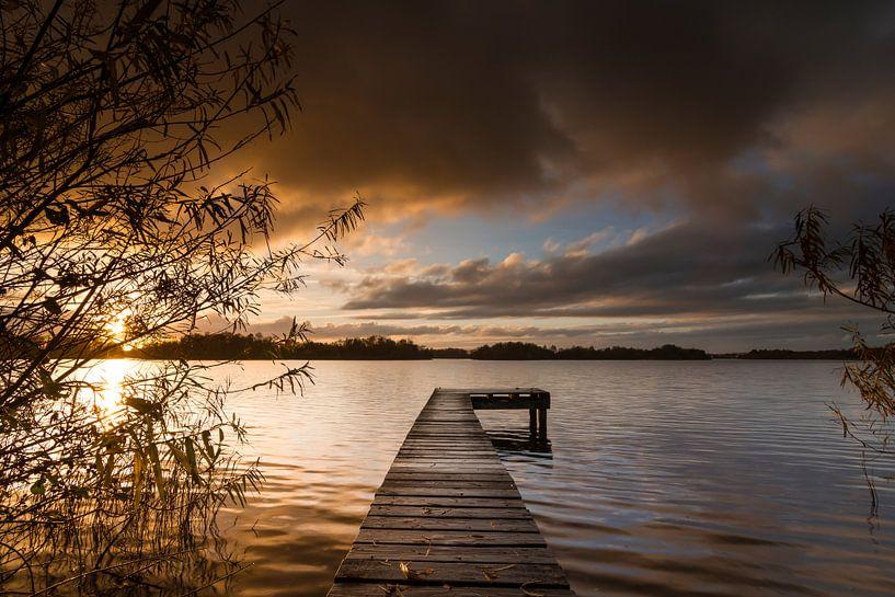 Herbstlicht über dem Paterswoldse Meer sur robert wierenga