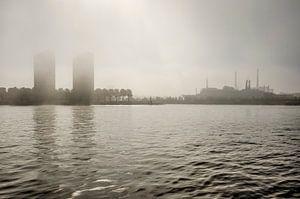 Katendrecht in de mist van Frans Blok