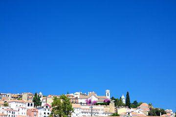 Lissabon uitzicht op de stad van Jan Brons