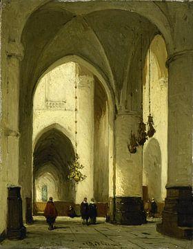Interieur der Grote of Sint Bavokerk in Haarlem, Johannes Bosboom