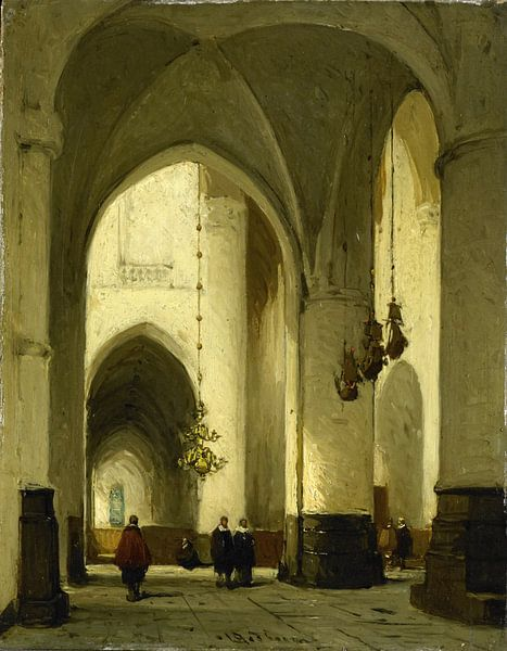 Interieur van de Grote of Sint Bavokerk te Haarlem, Johannes Bosboom van Meesterlijcke Meesters