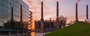 Zonsondergang bij het Zeithaus Panorama van Marc-Sven Kirsch