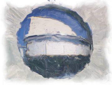 Abstract gris bleu sur Maurice Dawson