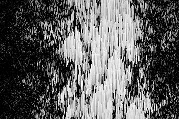 Abstraktes Stangen-Gebirge Querformat exzentrisch