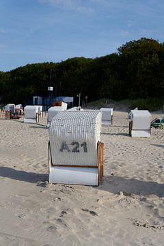 Strandkorb an der Ostsee in Kolobrzeg