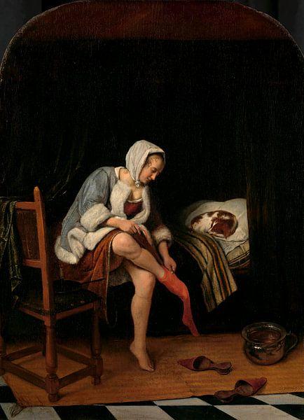 Frau bei der Toilette, Jan Havicksz Steen von Meesterlijcke Meesters