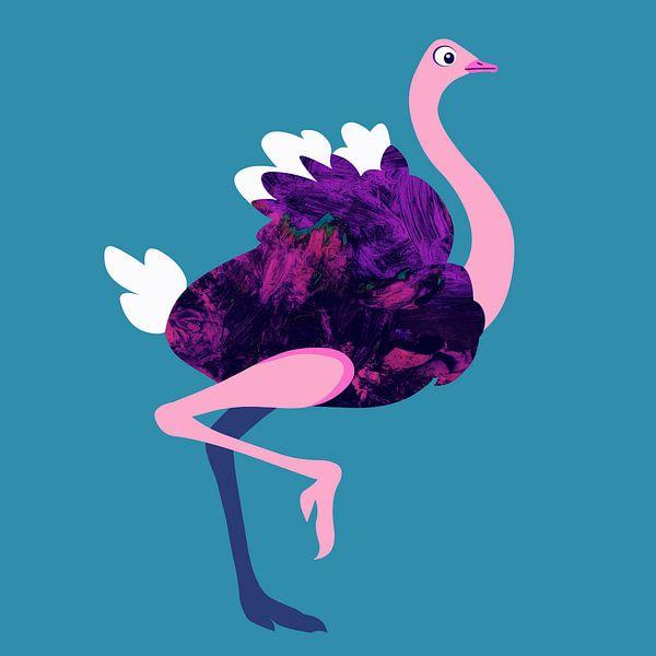 Struisvogel van Studio Mattie