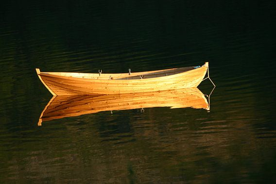 boot in gouden gloed