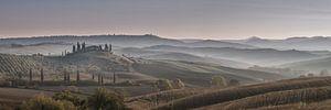 Zonsopkomst bij Podere Belvedere in Toscane van