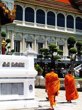 Twee monniken opweg naar hun tempel von Kim van de Wouw