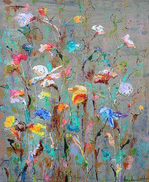 Wilde Blumen fließen von Atelier Paint-Ing
