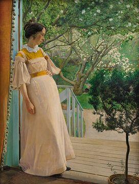 L. A. Ring~An den französischen Fenstern.Ehefrau des Künstlers