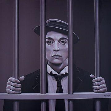 Buster Keaton Painting sur Paul Meijering