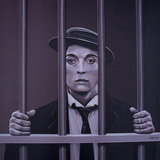 Buster Keaton Schilderij van Paul Meijering