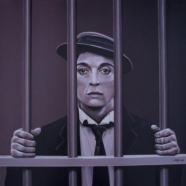 Buster Keaton Schilderij