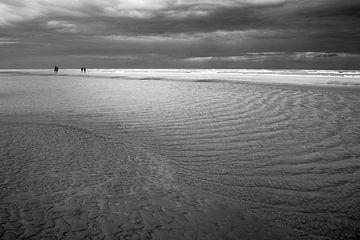 Paardrijden op Zandvoort van Jan van de Laar