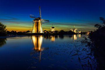 Windmühle am abend von Bart Verbrugge