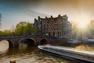 Amsterdamse grachtenpanden aan de Brouwersgracht van gaps photography