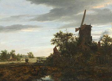 Landschaft mit einer Windmühle, Jacob van Ruisdael