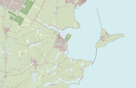 Kaart vanWaterland van Rebel Ontwerp