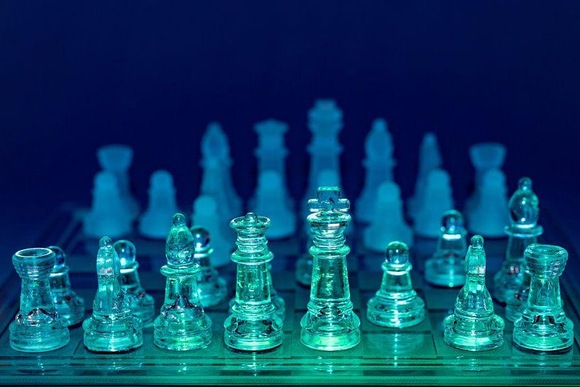 schaakstukken in kleur van John Driessen