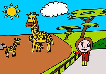 SUZ - naar de dierentuin (Giraffe) van AG Van den bor
