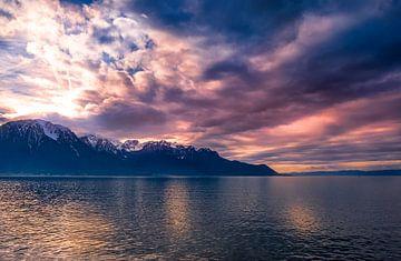 Zonsondergang op het meer van Yann Mottaz Photography