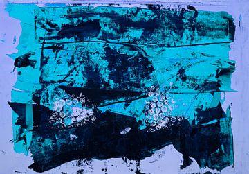 Blaue abstrakte Farbfläche von Klaus Heidecker
