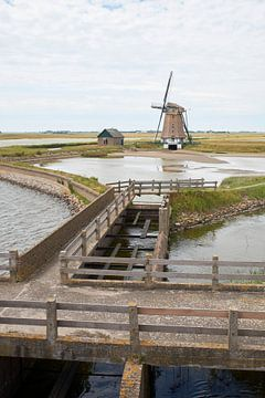 Molen Het Noorden op Texel (staande versie) van Cor de Hamer