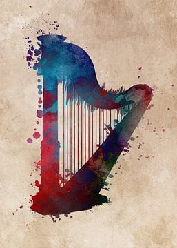 Harfe Musikinstrument #Harfe von JBJart Justyna Jaszke