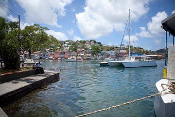 Uitzicht op St. George's (Grenada - Caribisch gebied) van t.ART