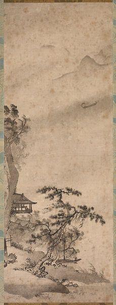 Landschaft mit Segelboot von 1000 Schilderijen