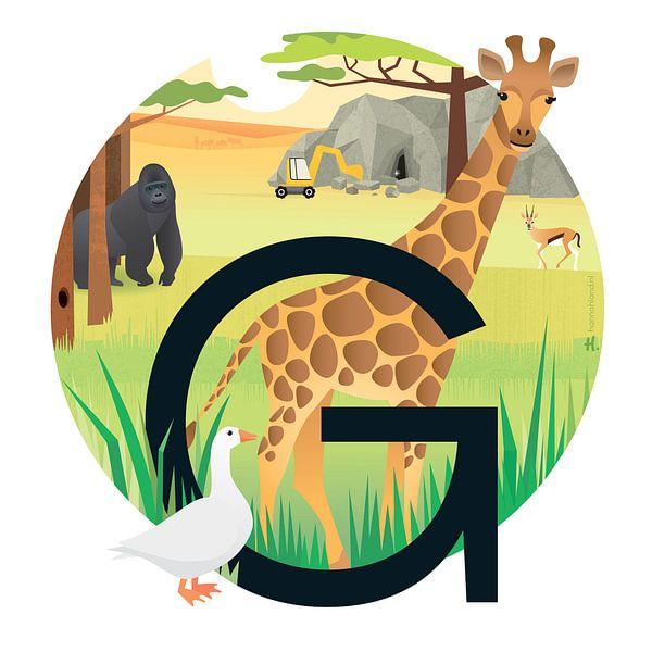 La girafe et le gorille sur Hannahland .