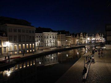 Gent vanaf de sint michielsbrug van Marco van't Woudt