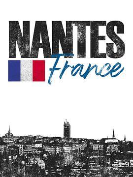 Nantes Frankrijk van Printed Artings