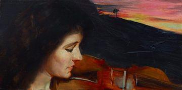 Tom Roberts, Adagio - 1893 van Atelier Liesjes