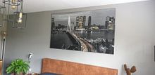 Klantfoto: Skyline Rotterdam by Night  - Rotterdams Finest !   van Sylvester Lobé, op canvas