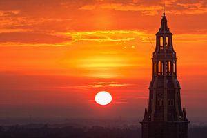 Kirchturm bei Sonnenuntergang