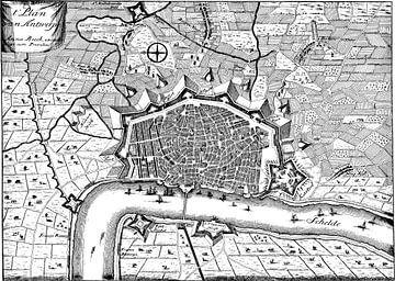 Middeleeuws plan van Antwerpen van Atelier Liesjes