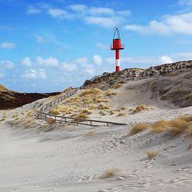 Baken op het strand van Sylt van Frank Herrmann