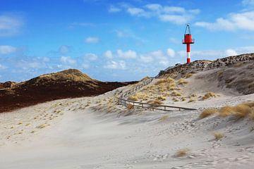 Baken op het strand van Sylt