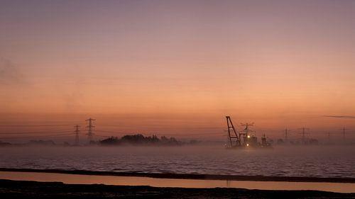 Bomhofsplas voor zonsopgang