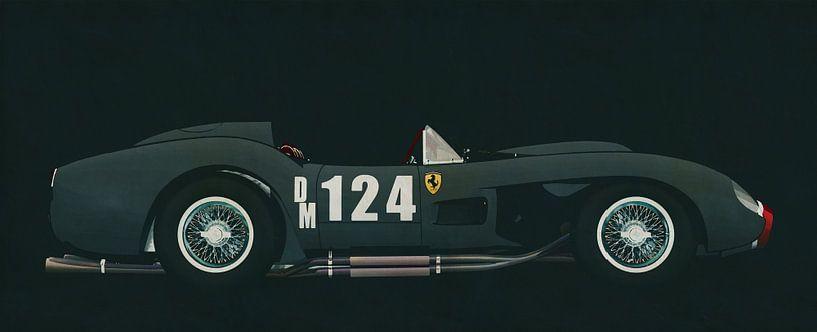 Ferrari F250 Testarossa 1957 zijaanzicht van Jan Keteleer