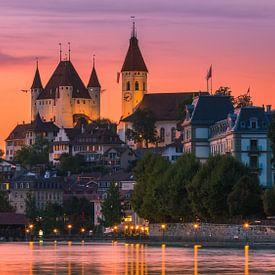 Thun Castle, Switzerland van Henk Meijer Photography
