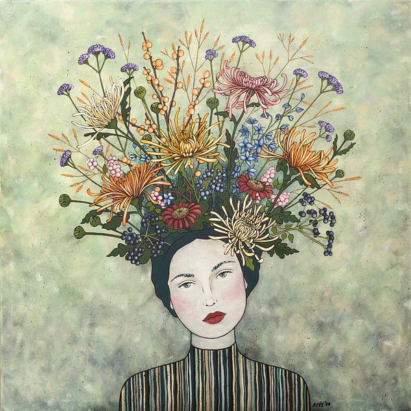 Blumen in meinem Kopf (Nr.2020-06) von Kris Stuurop
